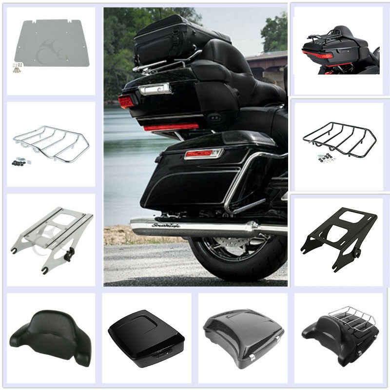オートバイツアーパックトランク荷物ラックトップレールハーレーツーリングモデルロード Electra Street 2014-19 FLHR FLH