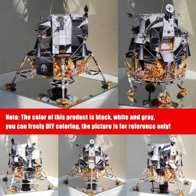 Space Fine Apollo 13 Lunar Module DIY 3D Paper Card Model Building Sets Construction Handmade Toys Educational Toys Model 3