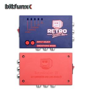 Image 5 - Bitfunx RetroScaler2x A/V כדי HDMI ממיר וקו מכפיל עבור רטרו משחק קונסולות PS2/N64/NES/SEGA Dreamcast/שבתאי/MD1/MD2