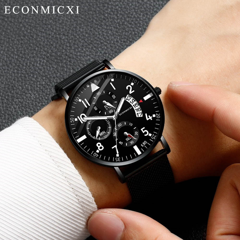 ECONMICXI <font><b>Watches</b></font> <font><b>Men</b></font> <font><b>Luxury</b></font> Quartz Analog <font><b>Watch</b></font> Fashion <font><b>Ultra</b></font> <font><b>Thin</b></font> Waterproof Wristwatch Business Clock <font><b>2019</b></font> Relogio Masculino image