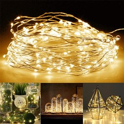 1-5M Copper Wire LED String Lights Night Light Holiday Lighting For Garland Fairy Christmas Tree Wedding Party Decoration
