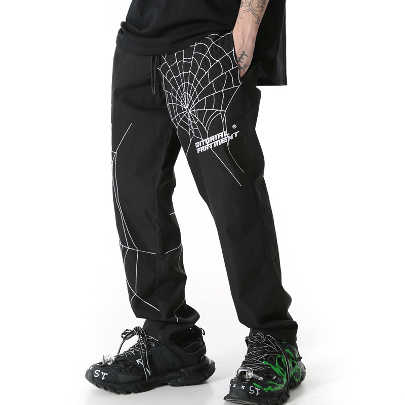 UNCLEDONJM Spider Embroidery Baggy Harem Pants Streetwear Men 2020 Summer Hip Hop Casual Trousers Fashion Male Pants ED933