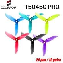 20 pces/10 pair dalprop cyclone t5045c pro 5045 hélice 3 blade para fpv freestyle zangão quadcopter versão atualizada prop