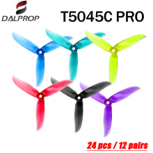 20pcs / 10 pair DALPROP CYCLONE T5045C PRO 5045 3 Blade propeller for FPV Freestyle Drone Quadcopter Updated version Prop