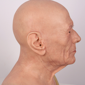 Image 2 - Halloween Old Man Mask Realistic Silicone Masquerade Full Head Tricky Props Drag Queen
