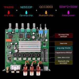 Image 5 - أيما مجهار النغمات خفيضة التردد TPA3116, مضخم صوت TPA3116D2، بلوتوث، هاي فاي، مكبرات صوت رقمية 2.1 قناة، 50 واط*2 + 100 واط تيار مباشر 12 24 فولت
