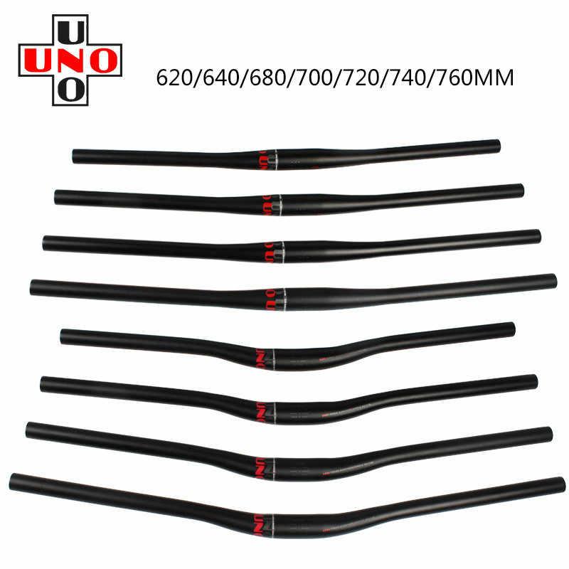 UNO Aluminium MTB AM Road Bike Handlebar Bicycle flat Riser Bar 31.8*620-640mm