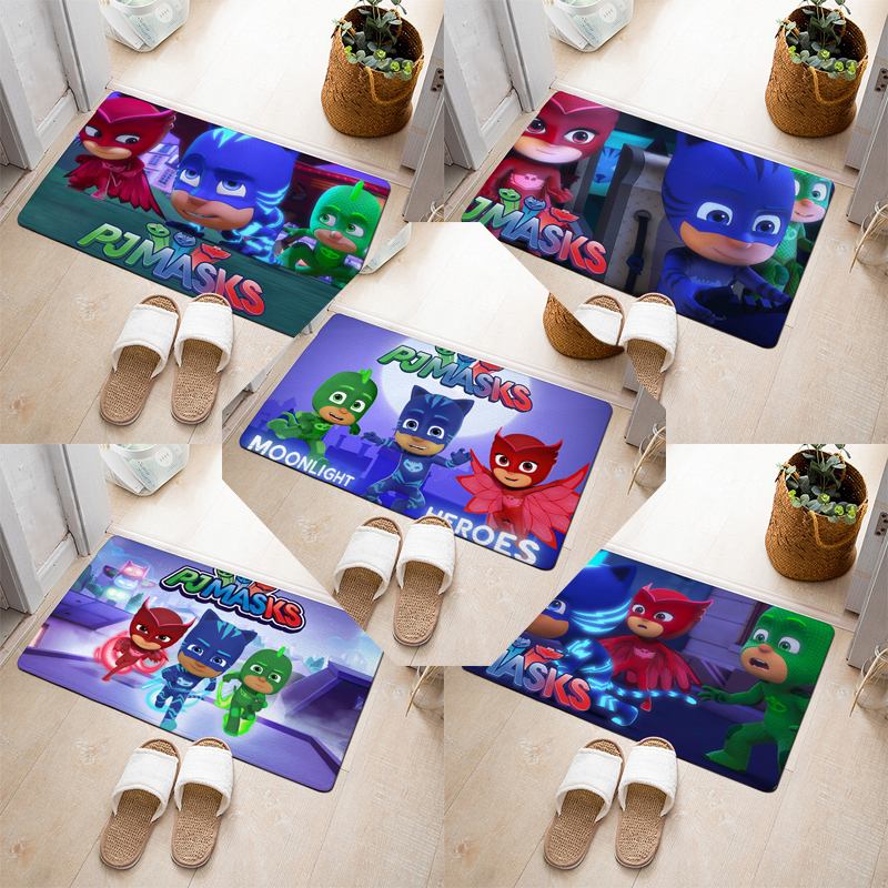 Pj Masks 3D Carpet Catboy Owllette Gekko Cartoon Pj Mask Carpets Sport Protective Floor Mats Non-slip Absorbent Mat Outdoor Toys