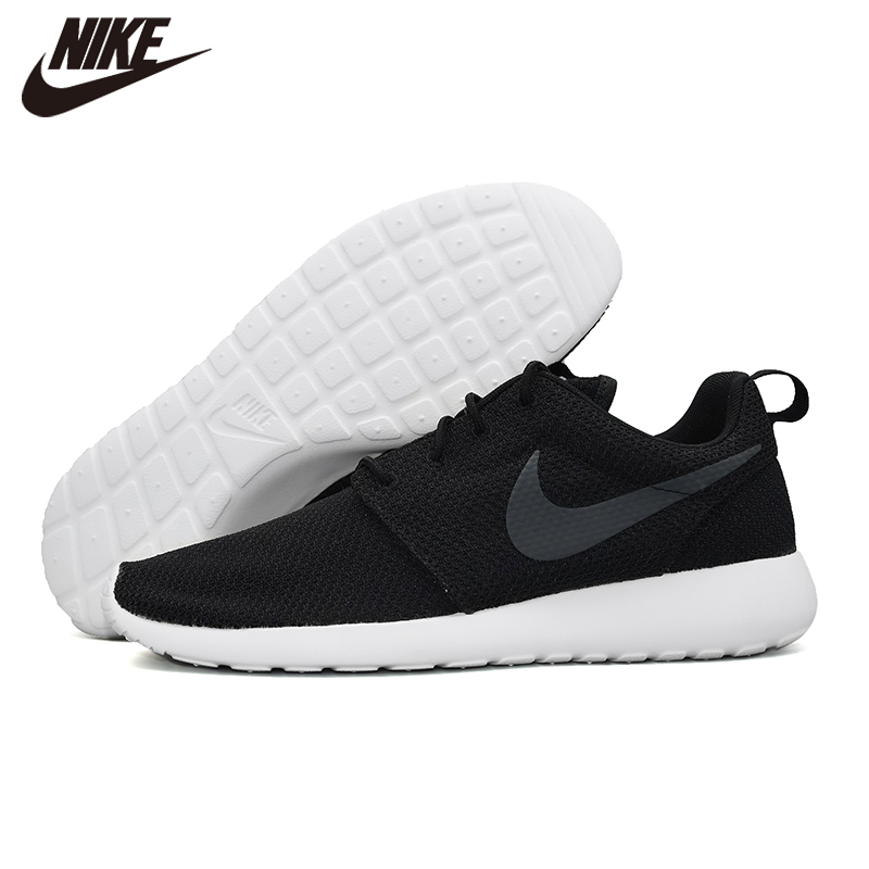 Original NIKE ROSHE RUN Mens Running Outdoor Sports Shoes Comfortable Black Casual Shoes 511881-020