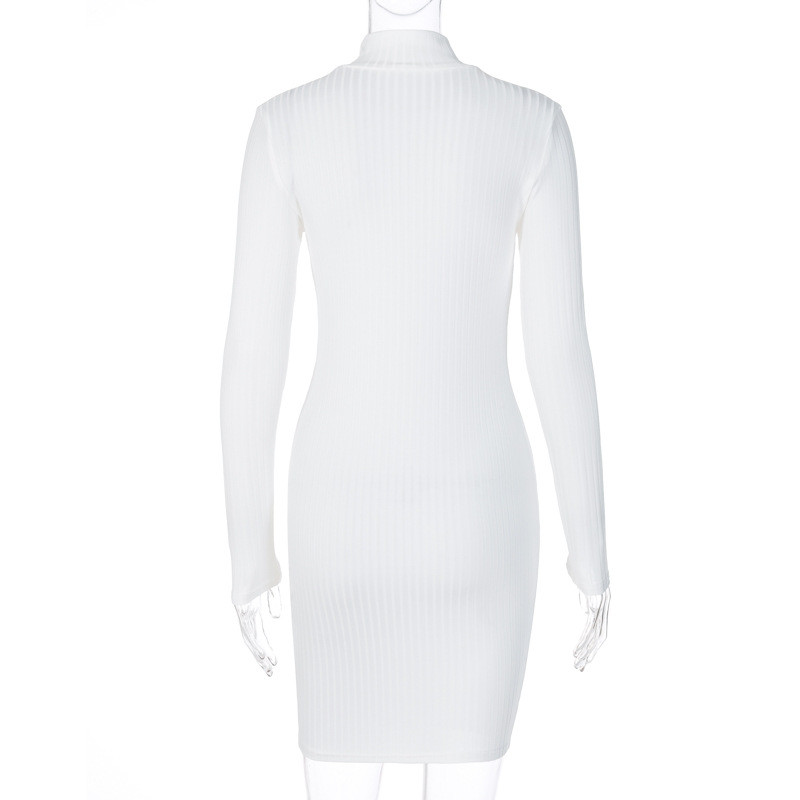turtleneck bodycon dress26