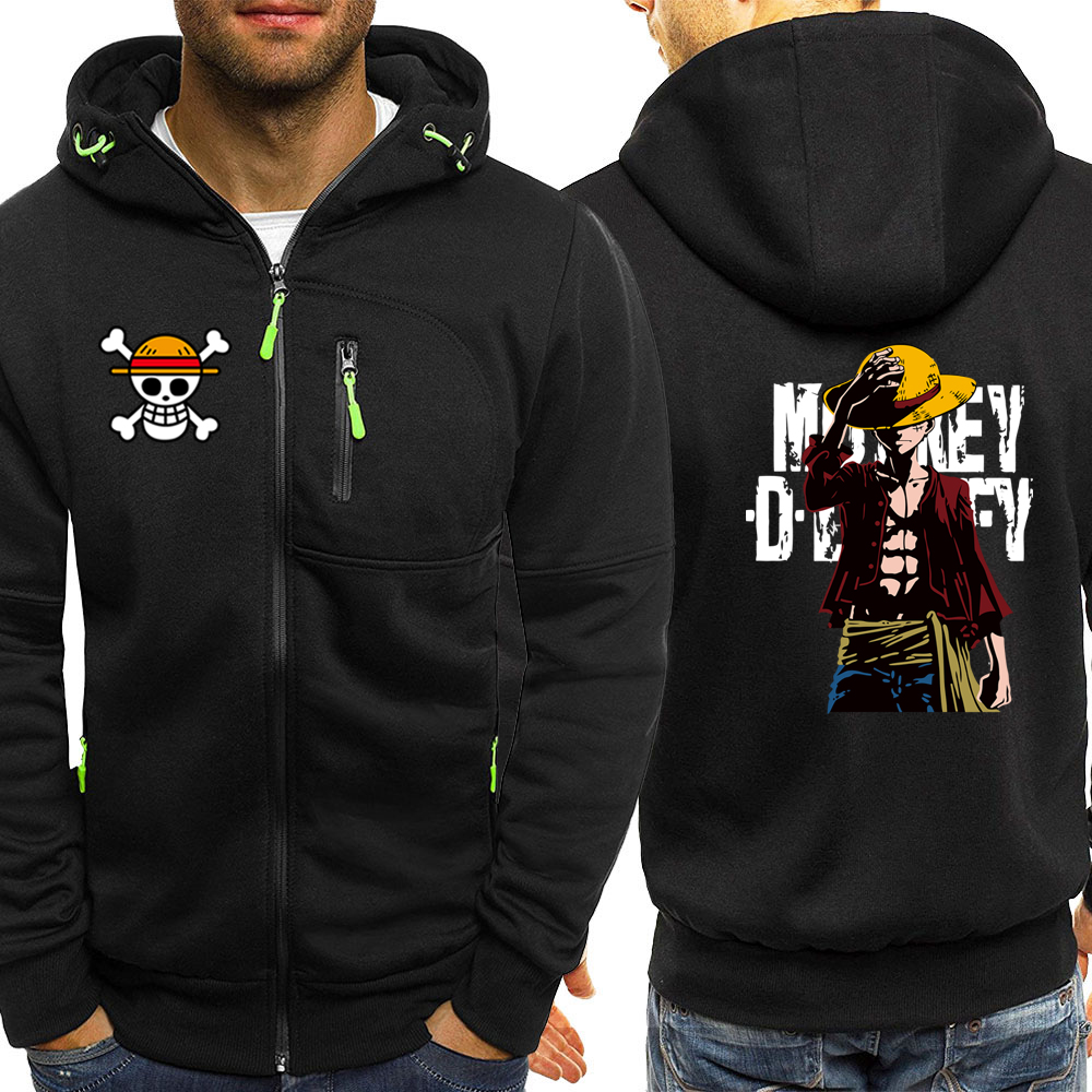 Luffy ONE PIECE Anime Series Hoodies Men Jacket 2019 Autumn Winter Casual Coat Harajuku Mens Hoodie Sweatshirts Hip Hop Hoody