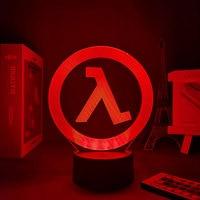 Luz Nocturna 3D CS de media vida, lámpara led de escritorio con gradiente de control remoto, USB táctil, regalo de cumpleaños y vacaciones