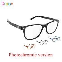 Qukan b1 destacável anti azul raios protetor de olho de vidro de proteção photochromic versão para o homem mulher jogar telefone/pc