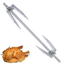Rotisserie Accessories BBQ Grilled Chicken Fork Stainless Steel Roast Chicken Skewer Cook Oven Accessories 32.5/38/41.5/45cm