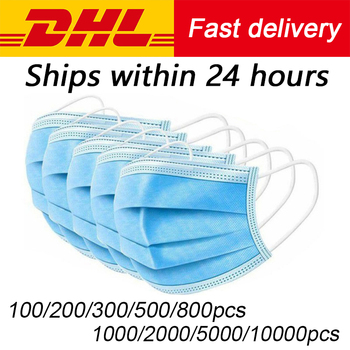 Free DHL Fedex 100/200/500/1000pcs 3-ply Disposable Face Mouth Mask Nonwoven Masks Anti PM2.5 Hygiene Safe Mouth Face Mask