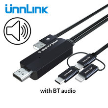 Unnlink usb к телевизору с аудио mhl зеркальный литой кабель