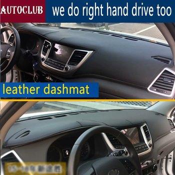 For Hyundai Ix35 Tuscon 2015 2016 2017 2018 2019 Leather Dashmat Dashboard Cover Car Dash Mat SunShade Carpet accessories