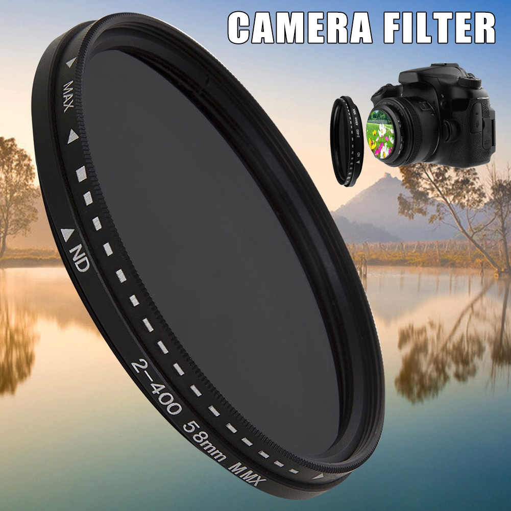 ND2 to ND400 Filter Durable 46mm ND Fader Neutral Density Adjustable Variable Filter