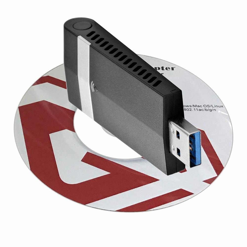 1200 Мбит/с двухдиапазонный для ноутбука ПК USB адаптер беспроводной ЛВС-приемник конвертер Портативный Универсальный Wifi ключ USB 3,0 Настольный