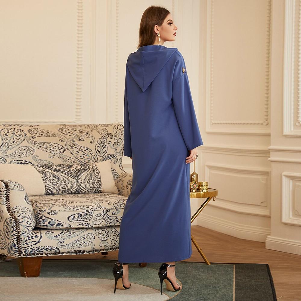 Ramadan Abaya Dubai Turkey Arabic Muslim Hijab Dress Kaftan Islam Dresses For Women Morocco Vestido Robe Longue Djellaba Femme Women Women's Abaya Women's Clothings