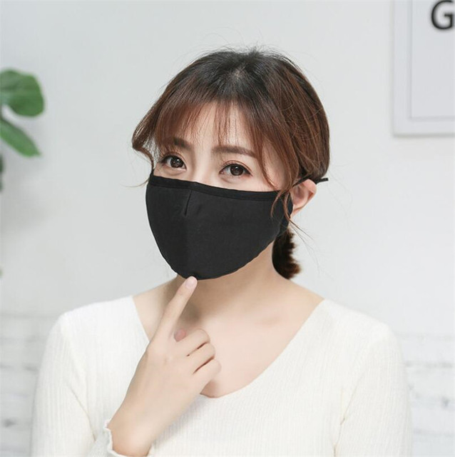 PM2.5 Washable Mouth Mask Black Anti Dust Mask Reusable windproof effortless breathable Face Muffle Bacteria Flu Respirator 5