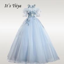 Its YiiYa Wedding Dress O-neck Appliques Robe De Mariee Off Shouler Bridal Dresses Elegant Ruffles Ball Gowns CH132