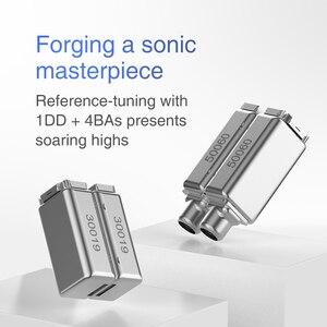 Image 4 - TRN V90 4BA + 1DD hibrid 5 sürücü üniteleri Metal kulak kulaklık IEM HIFI monitör koşu spor sahne çözünürlüğü 2Pin ayrılabilir V80