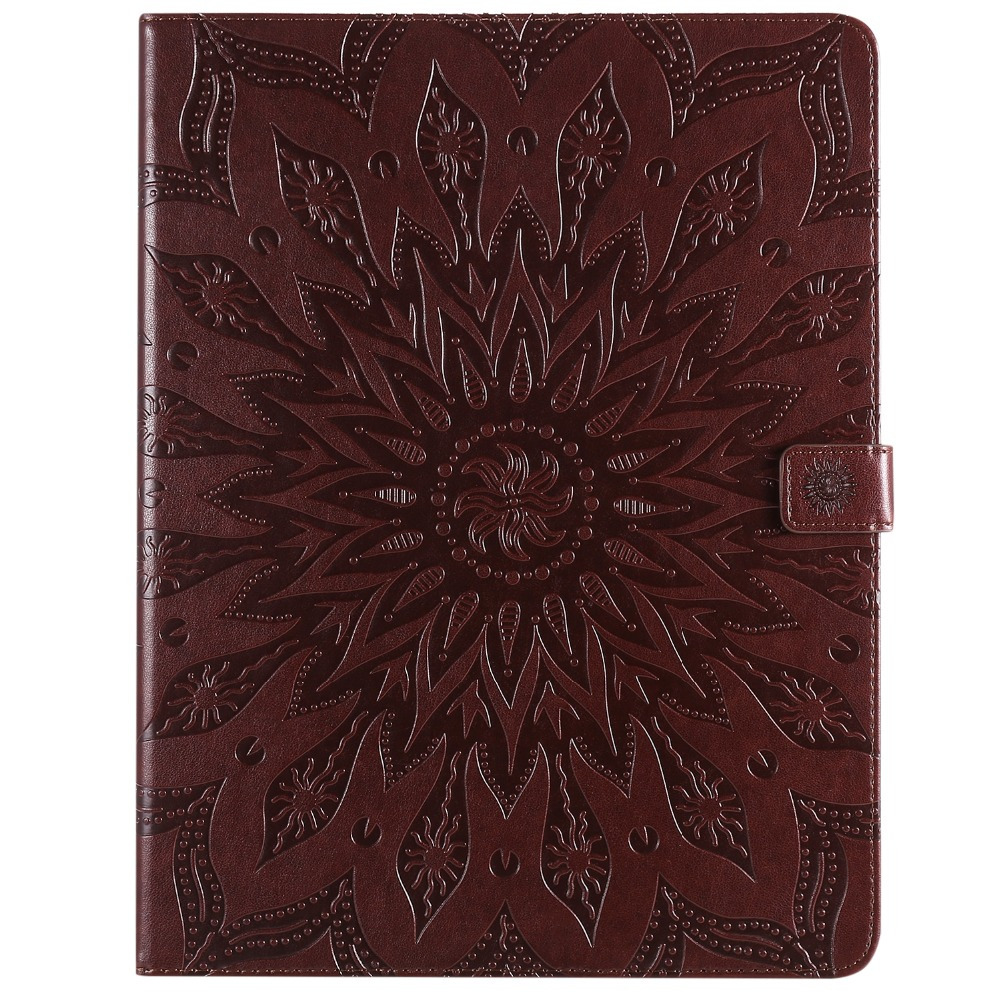 Flower Cover Shell Case 2020 Embossed Skin Leather iPad for Pro 12 9 3D Protective