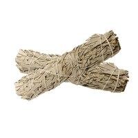 2 pçs americano califórnia branco sálvia smudge vara wisp sálvia planta para sala de purificação moderna casa decoração suprimentos accessori|Repelentes| |  -