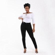 Jeans per donna mamma Jeans Jeans a vita media donna Jeans elasticizzati taglie forti elasticizzati pantaloni a matita skinny in denim lavato femminile