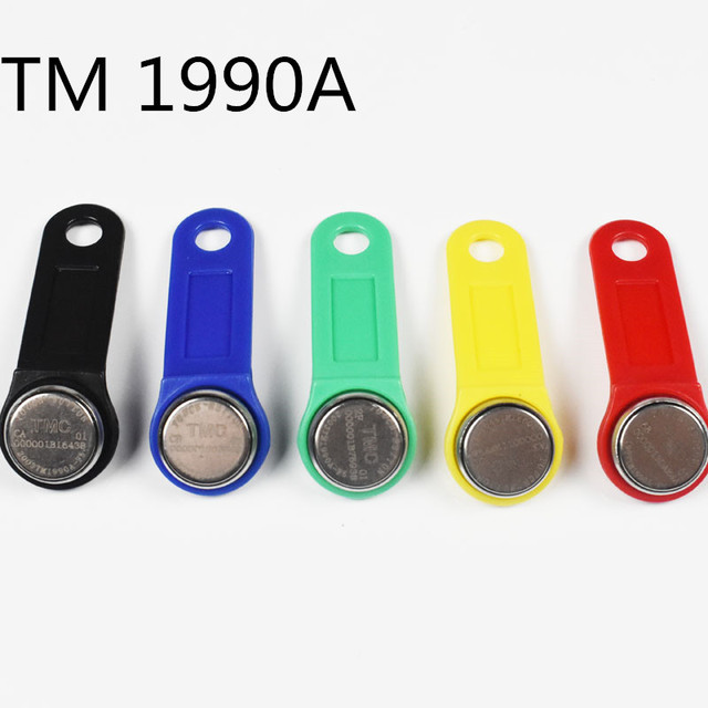 10pcs Dallas DS1990A DS1990A F5 iButton I Button 1990a F5 Electronic Key IB tag Cards Fobs TM Cards