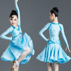 2020 Costumes de danse latine robes pour filles Salsa/salle de bal/Tango/Chacha Performance vêtements robes de compétition latine SL2472