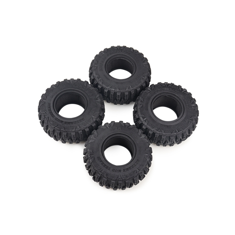 4Pcs 120Mm <font><b>2.2</b></font> Inch Rubber Rocks <font><b>Tires</b></font> / Wheel <font><b>Tires</b></font> for 1:10 <font><b>RC</b></font> Rock <font><b>Crawler</b></font> Axial SCX10 90047 D90 D110 TF2 Traxxa S TRX-4 image