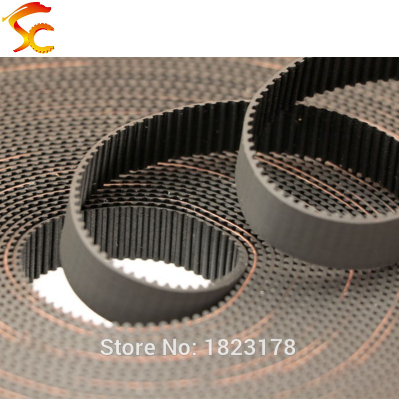 High Quality 5meters GT2 Open Timing Belt Width 9mm/10mm/12mm/15mm/20mm 2GT Belt For 3D Printer Free Shipping