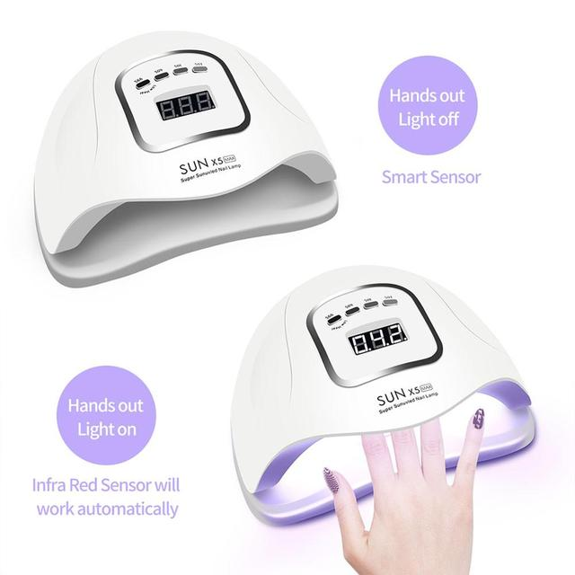 LED Nail Lamp for Manicure 80/54W Nail Dryer Machine UV Lamp For Curing UV Gel Nail Polish With Motion sensing LCD Display 2