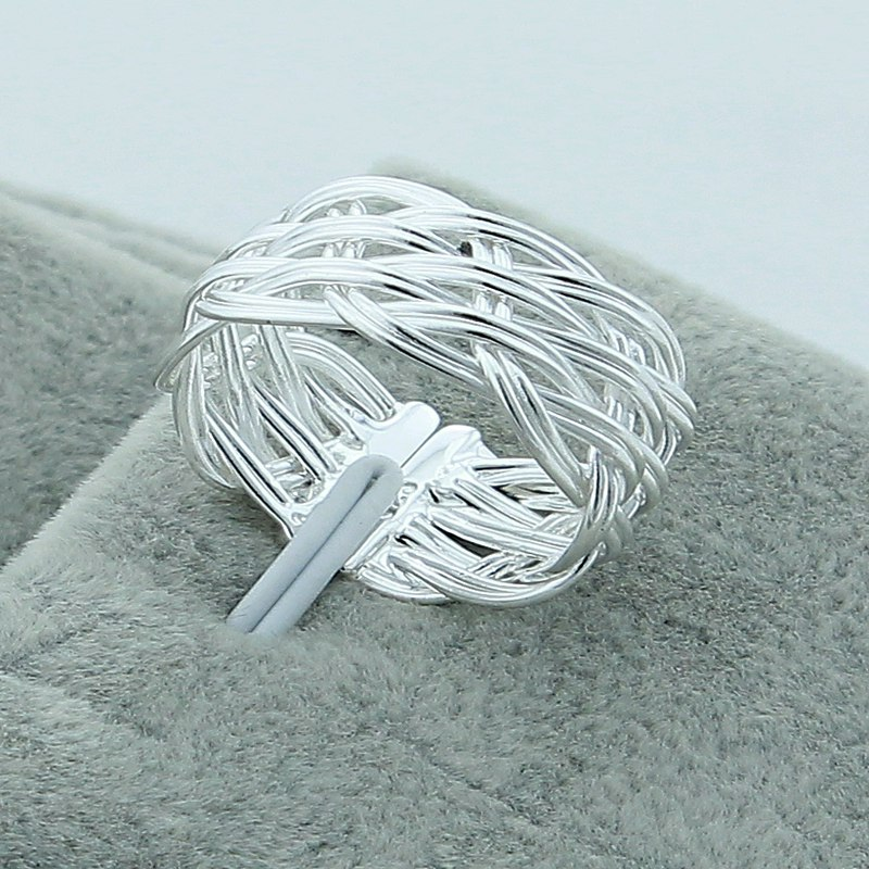 Wholesale New Arrival Hot Sell 925 Silver Women Finger Ring Fashion Vintage Jewelry,Small Reticulocyte