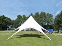 12m Star Tent in Single Peak PVC Material for Trade Show Outdoor Fair Exhibition Party Wedding Display Event Tents Sun Shelter