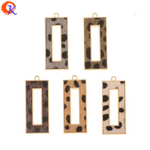 Cordial Design 50Pcs 18*43MM Jewelry Accessories/Hand Made/Leopard Print Effect/Rectangle Shape/DIY Charms/Earrings Findings