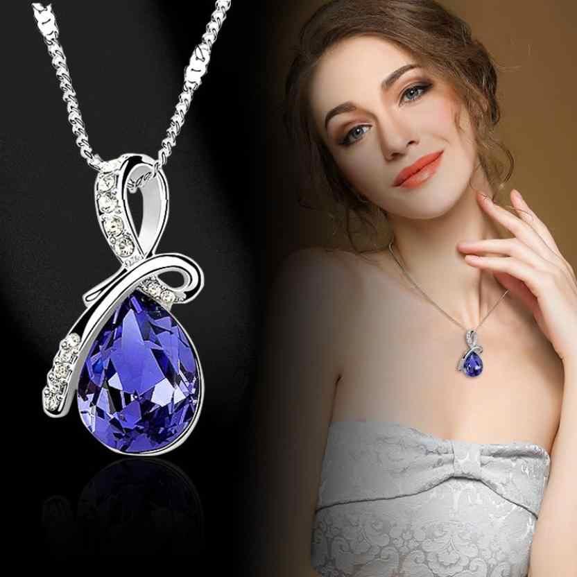 Fantastik Kadın Bayan Kolye suni elmas zincir Kristal Kolye Kolye Takı Moda Süsler Chokers kolye Tork