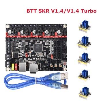 BIGTREETECH BTT SKR V1.4 SKR V1.4 Turbo Control Board 32Bit 3D Printer Parts TMC2208 UART TMC2209 tmc2130 SPI SKR V1.3 MKS GEN L 3d printer controller board mks gen l v1 0 compatible with ramps1 4 mks gen l support a4988 drv8825 tmc2100 lv8729
