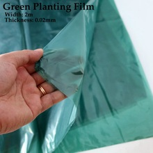 5~40m Width:2m Green Planting Film Vegetable Ginger Grow Mulch Garden Agriculture Greenhouse Plants Care Protect Cover
