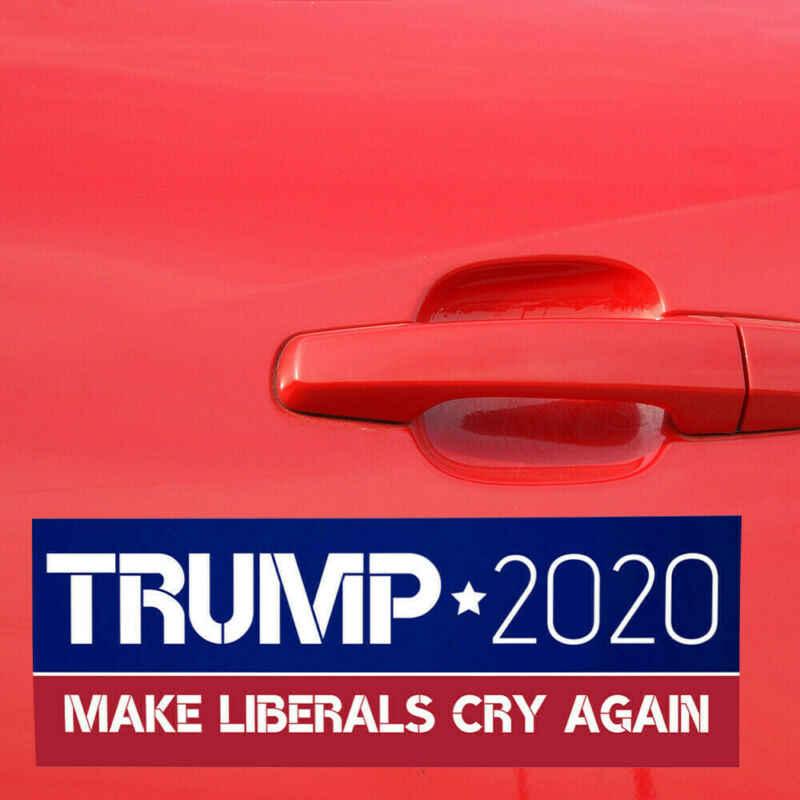 10 قطعة الرئيس دونالد ترامب 2020 ملصقات للسيارة متعددة الأشكال إبقاء جعل أمريكا كبيرة/جعل الليبراليين يبكون مرة أخرى