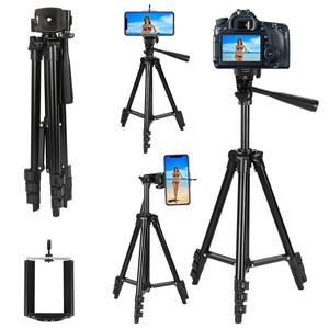 Image 5 - ארבעה רצפת גבוהה מקצועי אלומיניום חצובה Stand מחזיק + טלפון מחזיק + ניילון לשאת תיק עבור iPhone X 8 סמסונג smartphone