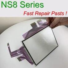 Nova tela do painel de toque original para omron NS8-TV00-V1 NS8-TV01-V1 ns8 NS8-TV00-V2 NS8-TV00B-V2 com sobreposição dianteira