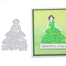 New Dies 2020 Princess Dress Metal Cutting Diy Photo Album Scrapbooking Stencil Die Cuts Card Making