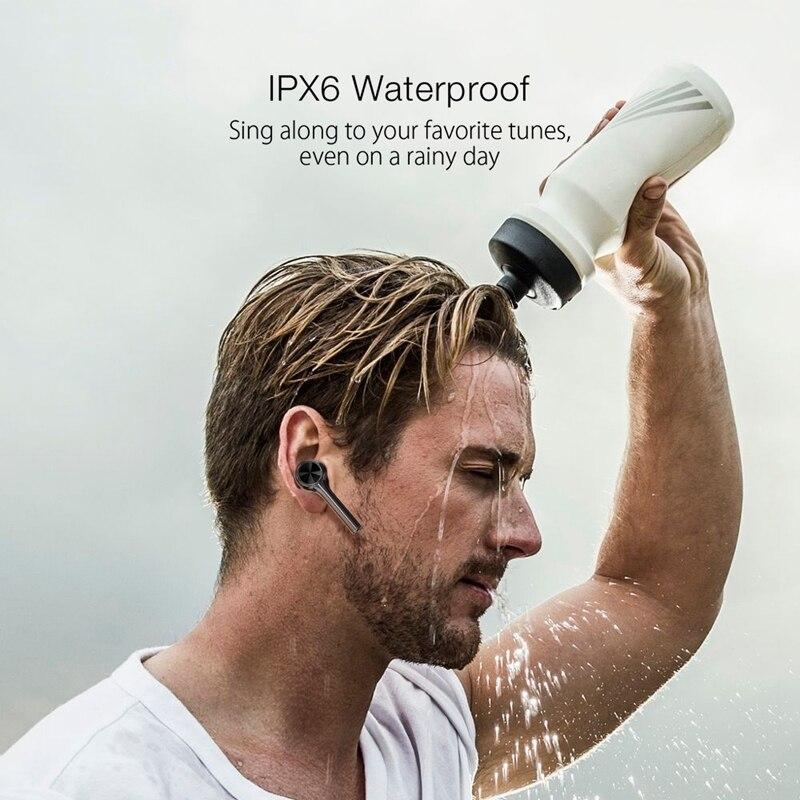Image 4 - BlitzWolf BW FYE6 TWS bluetooth 5.0 Wireless Earphone Graphene  Digital Display Touch Control Bilateral Call Headphones headsetPhone  Earphones