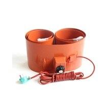 220V 110V 200L Silicone Band Drum Heater Blanket Oil Biodiesel Plastic Metal Barrel
