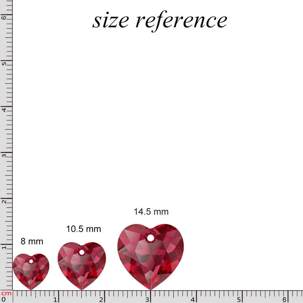 Baru (1 Buah) 100% Asli Kristal dari Swarovski 6432 Jantung Memotong Liontin Longgar Berlian Imitasi untuk Diy Kalung Perhiasan