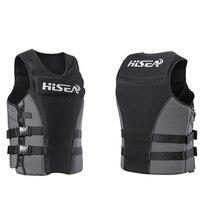HISEA Men's professional surf motorboat fishing life jacket adult swimming buoyancy life jacket floating clothing L