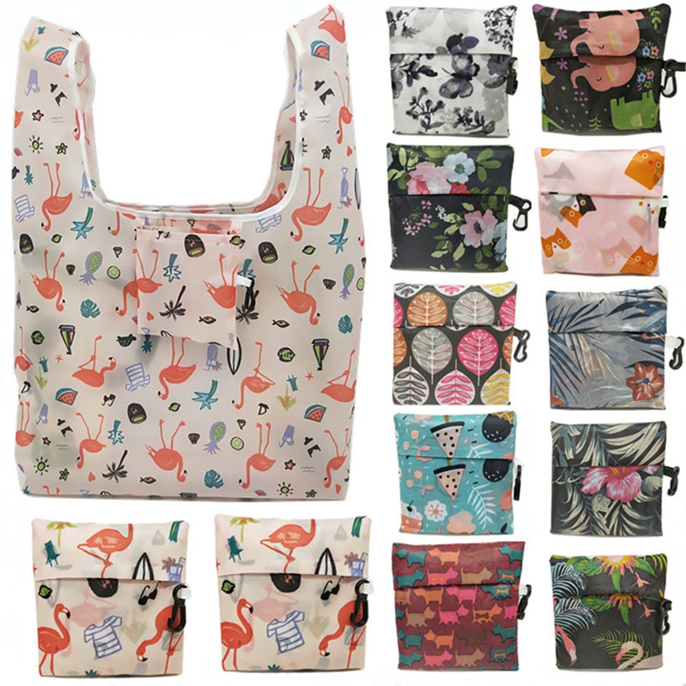 Thick <font><b>Magic</b></font> style Nylon Large Tote ECO Reusable Polyester Portable Shoulder Handbag Cartoon <font><b>Folding</b></font> Pouch <font><b>Shopping</b></font> <font><b>Bag</b></font> Foldable image